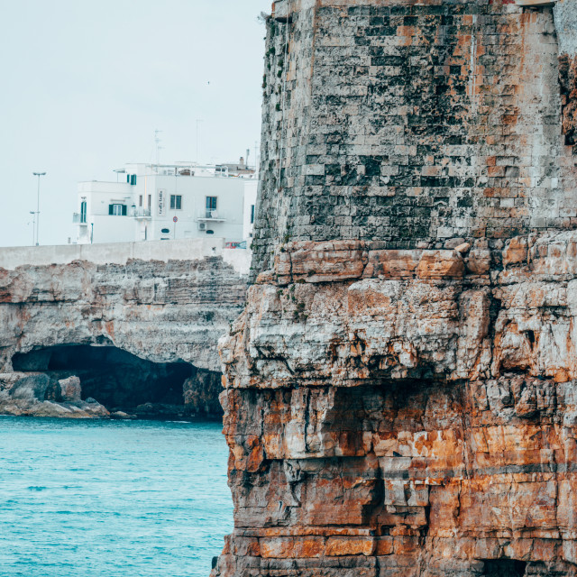 """""""Polignano a Mare View from the Cliff"""" stock image"""