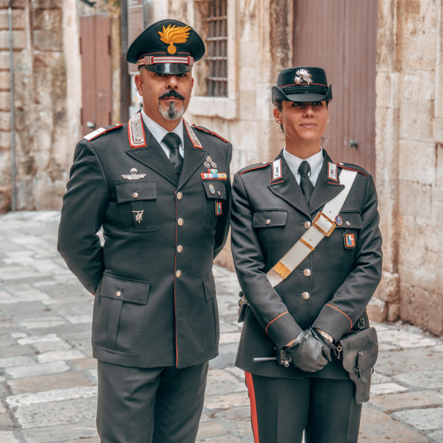 """""""Police Officers in Lecce, Italy"""" stock image"""