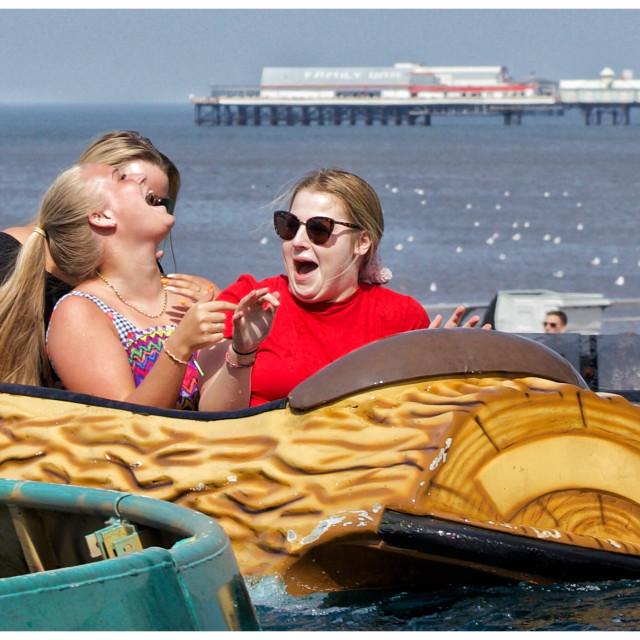 """""""Fun at the seaside"""" stock image"""