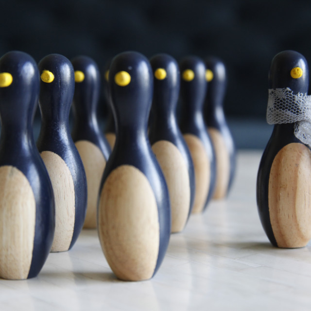 """""""Standing out from the crowd"""" stock image"""