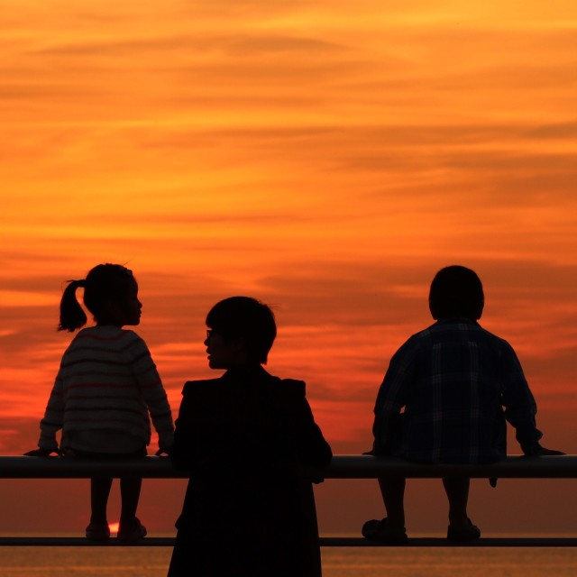 """""""The perfect place to watch the sun set"""" stock image"""