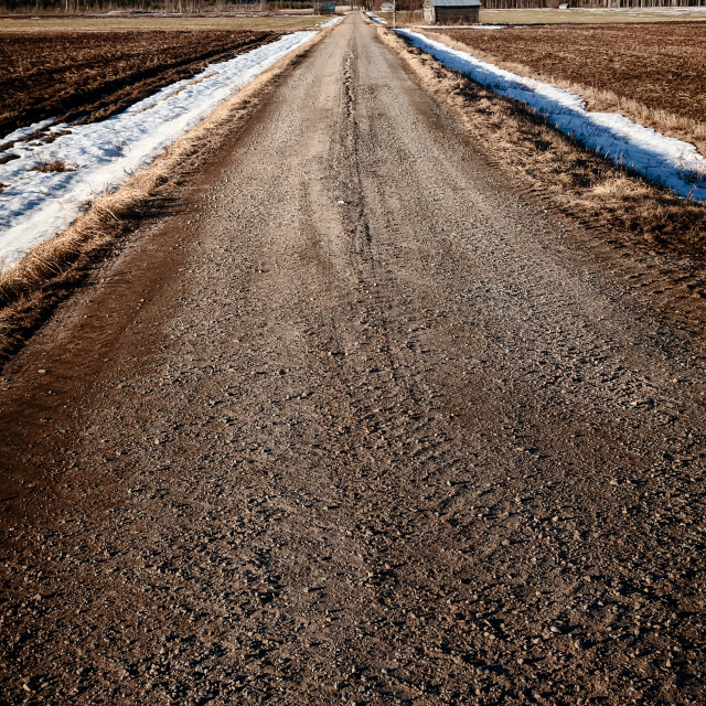"""""""Gravel Road By The Barn House"""" stock image"""