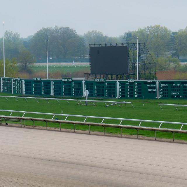 """Horse Track off season"" stock image"