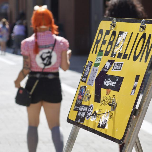 """The Rebellion Punk Festivals, Blackpool"" stock image"