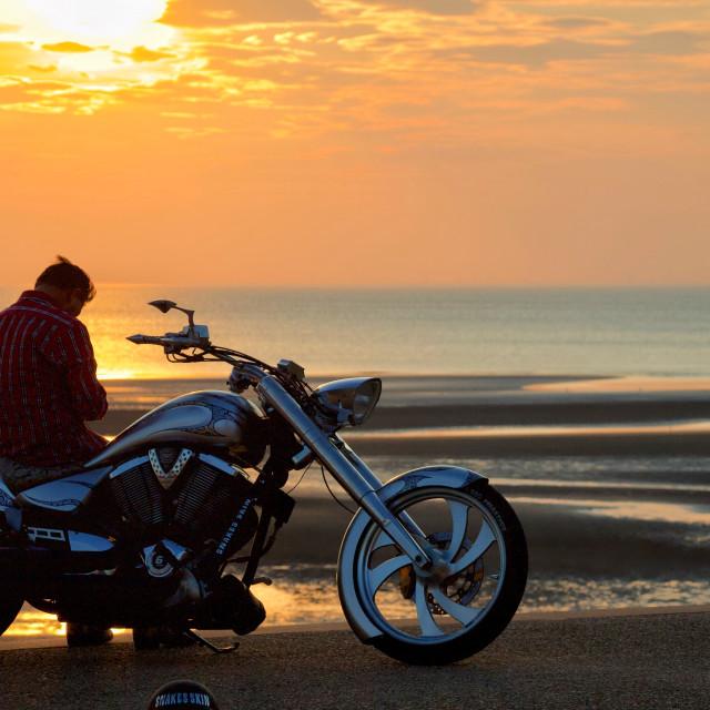 """Sunset rider"" stock image"