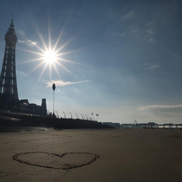 """I ❤️ Blackpool"" stock image"