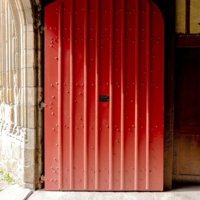 """""""Church door - Rennes"""" stock image"""