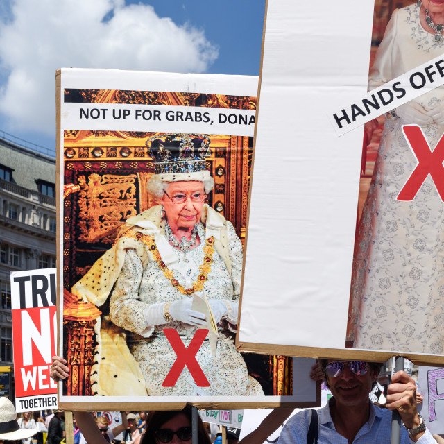 """""""Anti-Trump Protest March in London, UK"""" stock image"""