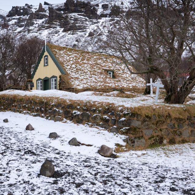 """Hofskirkja, Iceland, Europe"" stock image"