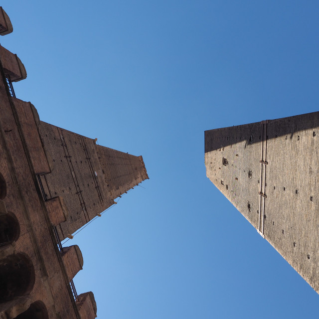 """Due torri (Two towers) in Bologna"" stock image"