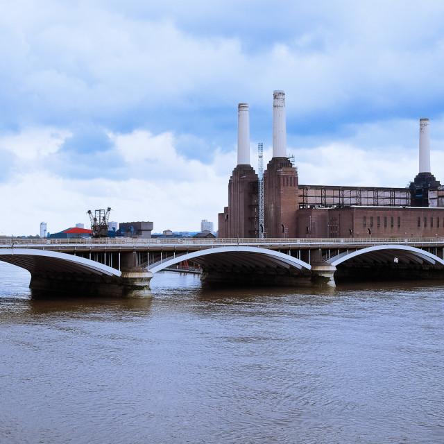 """Battersea Power Station in London"" stock image"