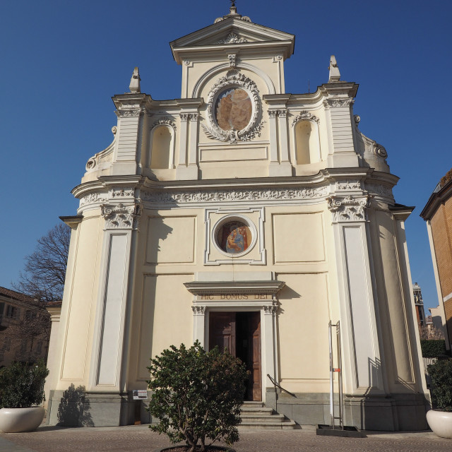 """""""San Giovanni Battista church in Alba"""" stock image"""