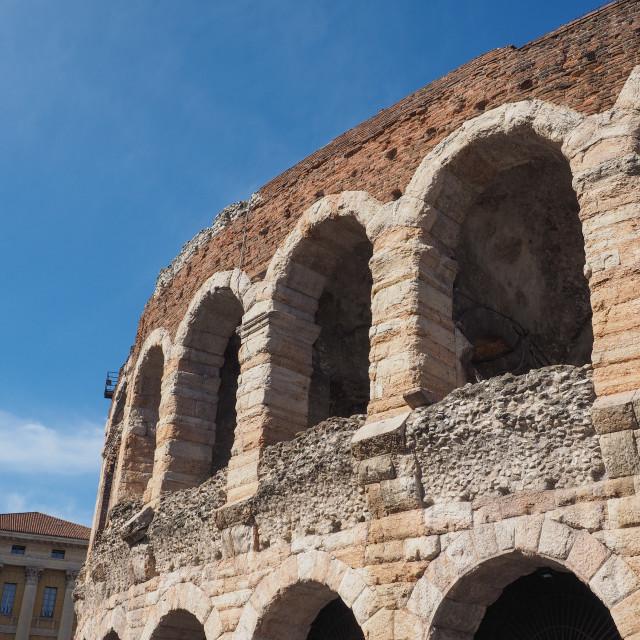 """""""Verona Arena roman amphitheatre"""" stock image"""