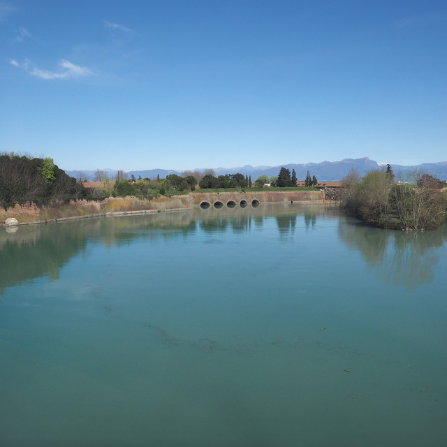"""Fortifications on Lake Garda in Peschiera Del Garda"" stock image"