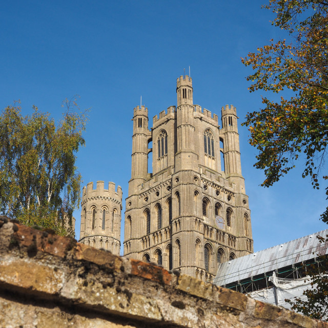 """""""Ely Cathedral in Ely"""" stock image"""