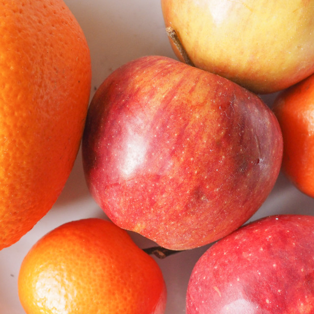 """""""apples and oranges"""" stock image"""