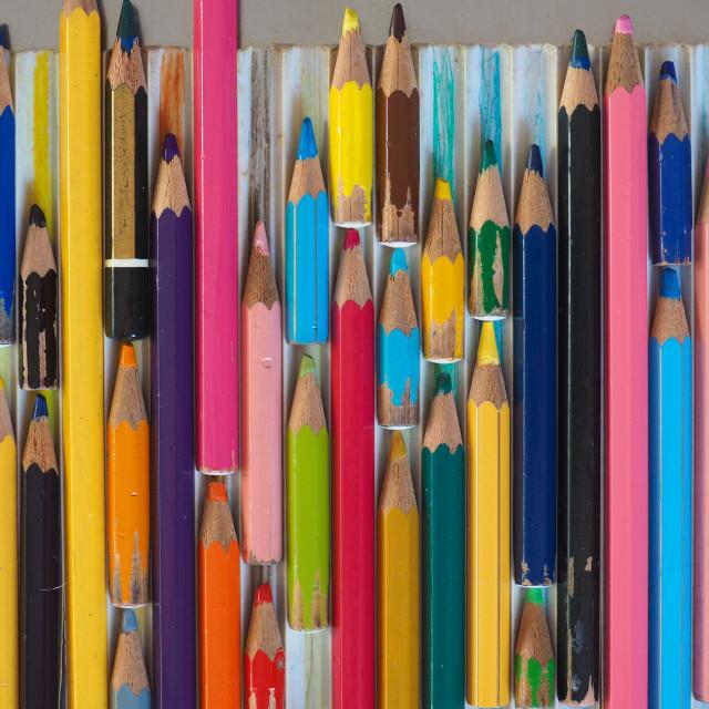 """many colour pencils"" stock image"