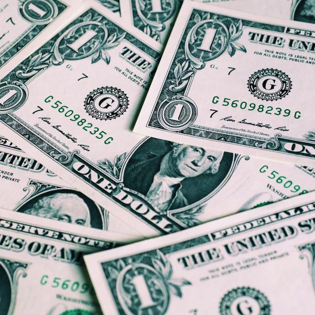 """""""Dollar notes, United States"""" stock image"""