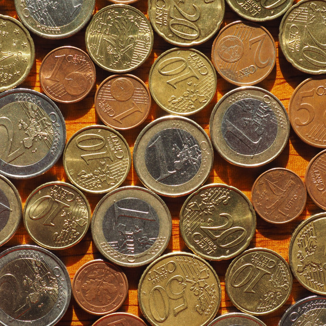 """""""Euro coins, European Union"""" stock image"""