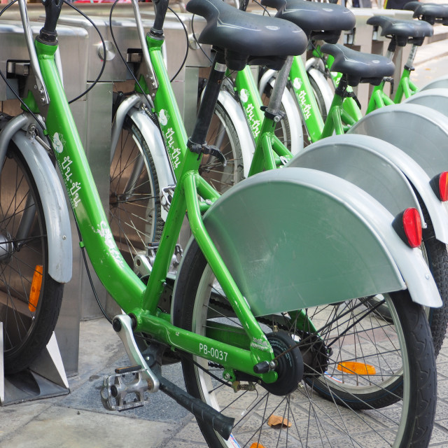 """Bicycle Sharing System Pun Pun"" stock image"