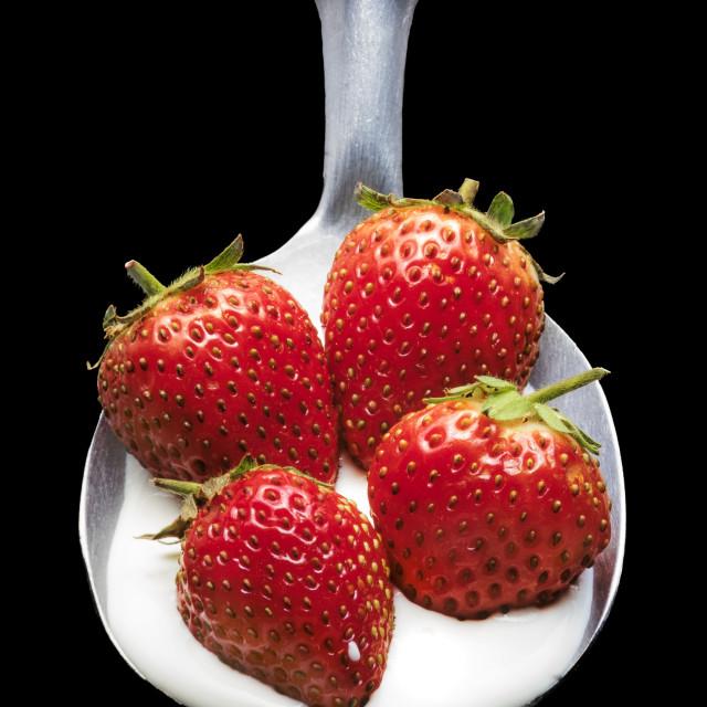 """Strawberries and Cream"" stock image"