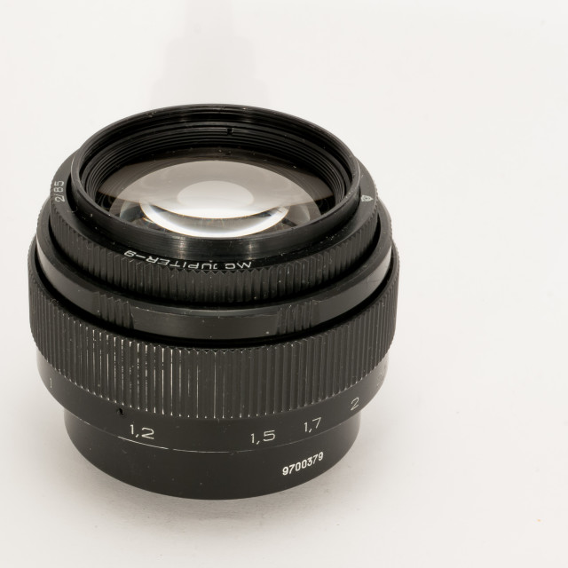 """Jupiter-9 85mm F/2 MC"" stock image"
