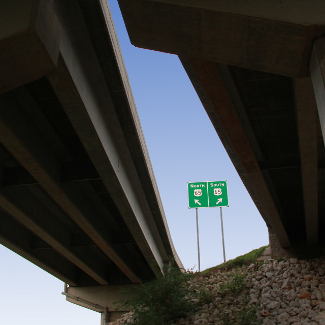 """Highway Overpass"" stock image"