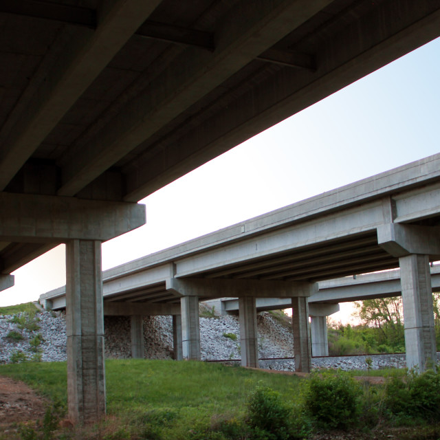 """Highway Interchange Overpass"" stock image"