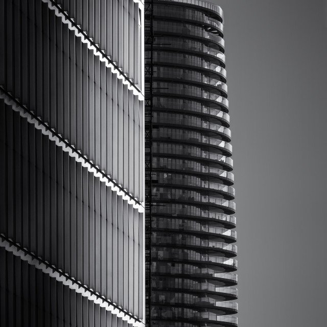 """Canary Wharf Towers"" stock image"