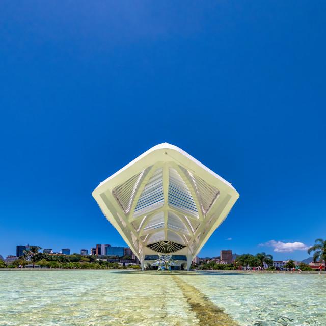 """Museum of Tomorrow in Rio de Janeiro"" stock image"