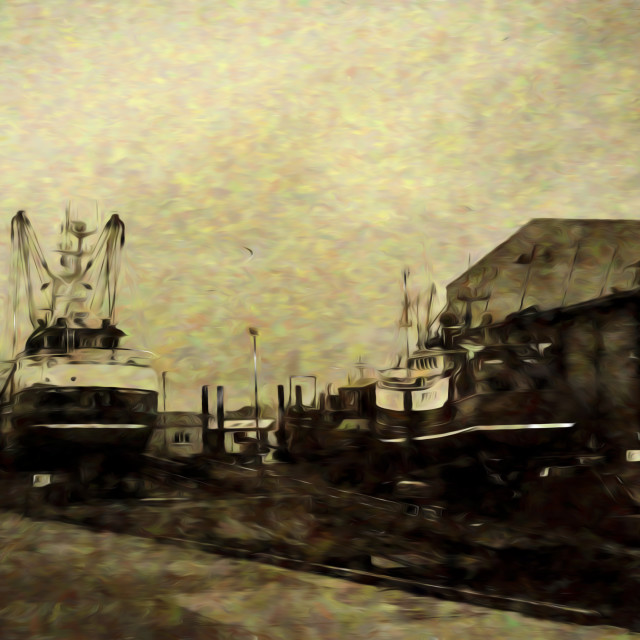 """""""Boatyard"""" stock image"""