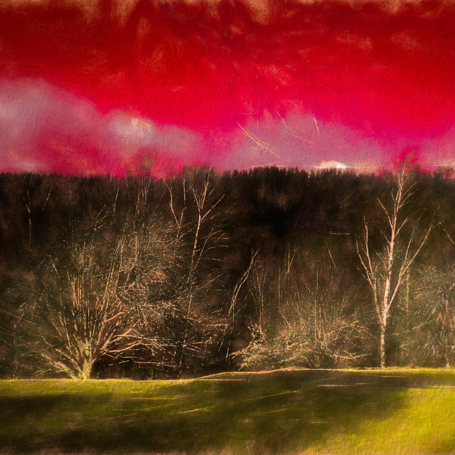 """""""Red Sky"""" stock image"""