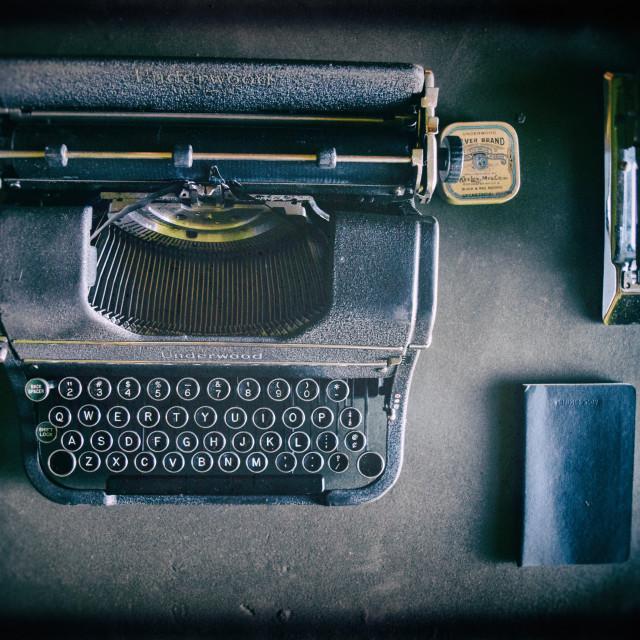 """""""A vintage typewriter"""" stock image"""