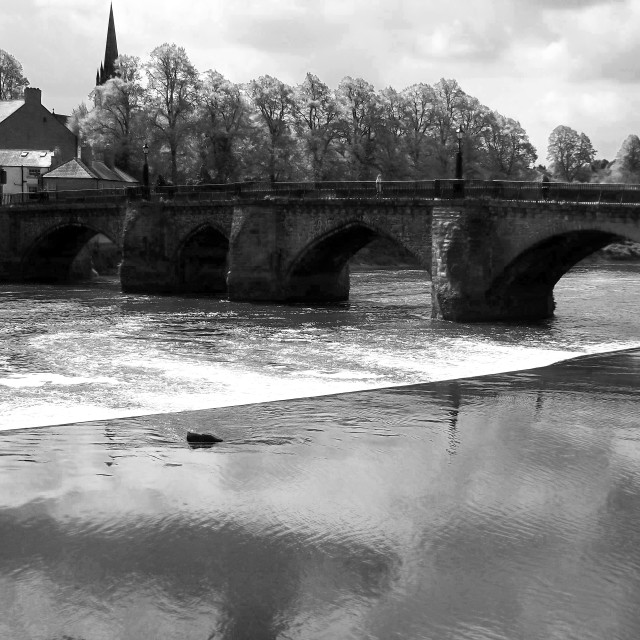 """""""The Old Dee Bridge, Chester"""" stock image"""