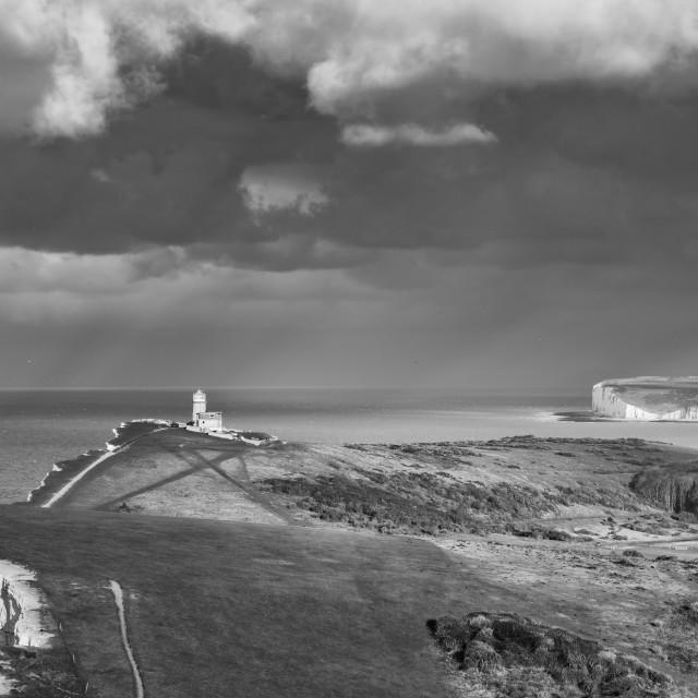 """Sunlight on Belle Tout Lighthouse"" stock image"