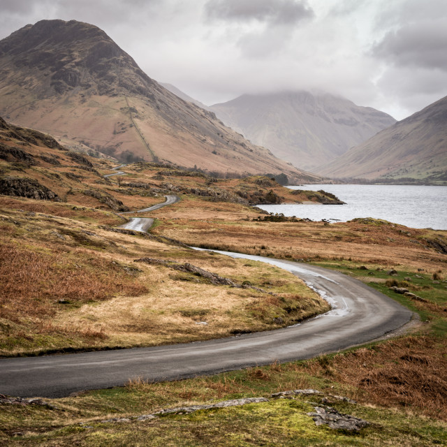 """""""Road to Wast Head"""" stock image"""