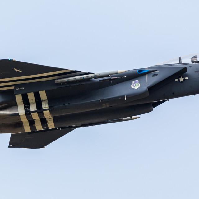"""""""Blue F-15E """"Heritage"""" Eagle"""" stock image"""