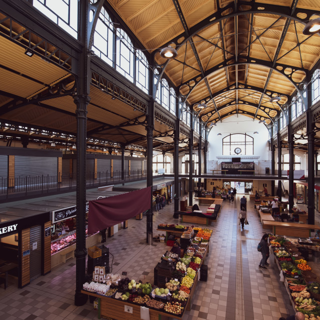 """""""Klauzal Market in Budapest, Hungary"""" stock image"""