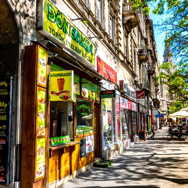 """Street Scene in Budapest, Hungary"" stock image"
