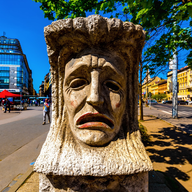 """Satue on the Blaha Lujza Square in Budapest"" stock image"