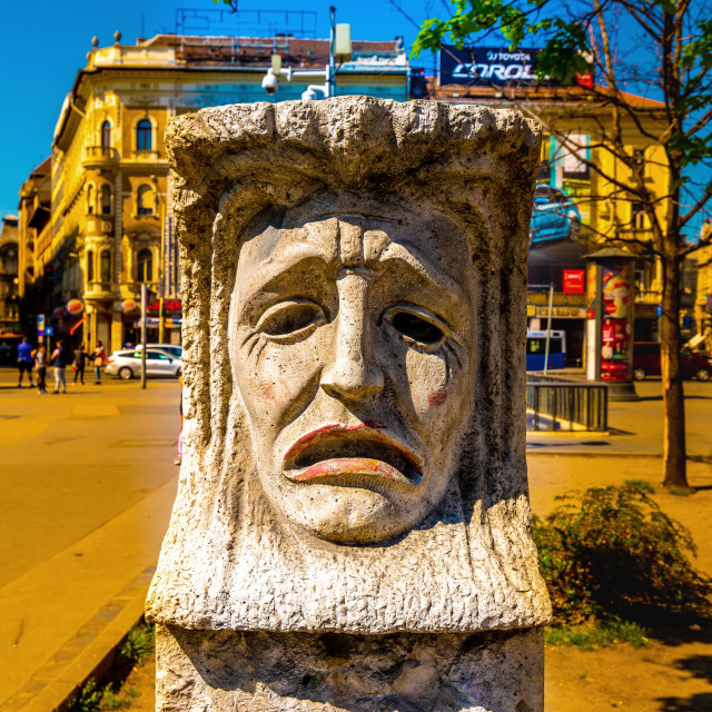 """Statue on the Blaha Lujza Square in Budapest"" stock image"