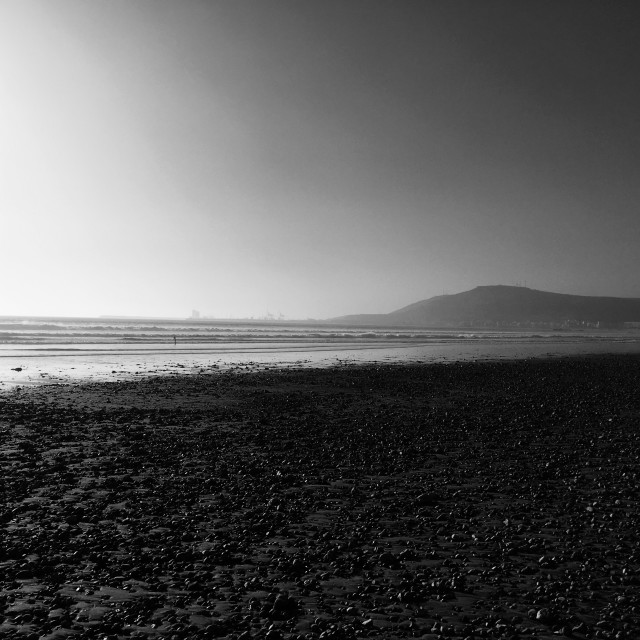 """Agadir beach, sunset."" stock image"
