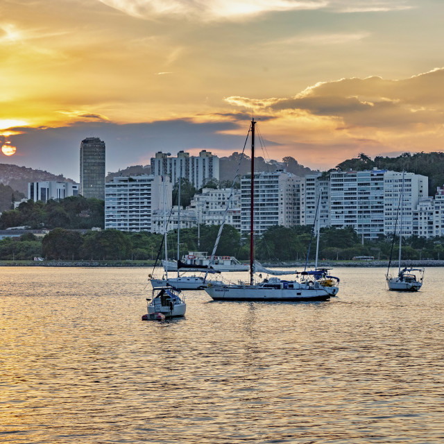 """""""Sunset Over Rio"""" stock image"""