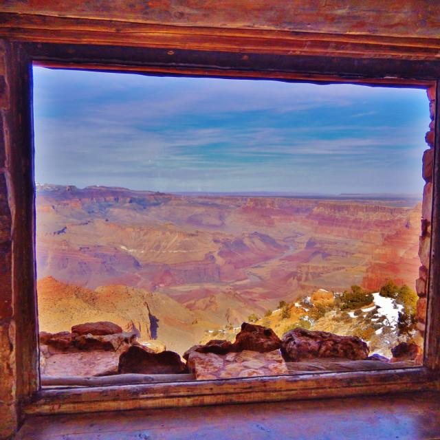 """Through the Canyon Window"" stock image"