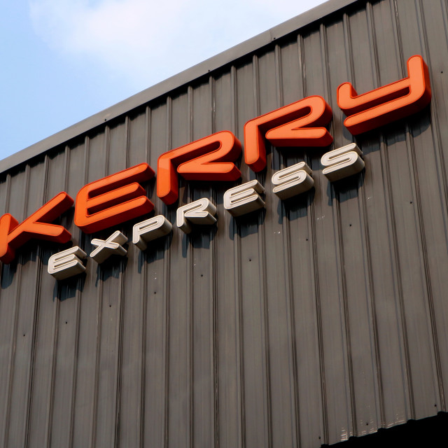 """Kerry Express brand name and logo"" stock image"