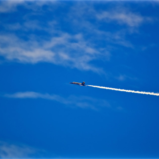 """Blue Angel Contrails"" stock image"