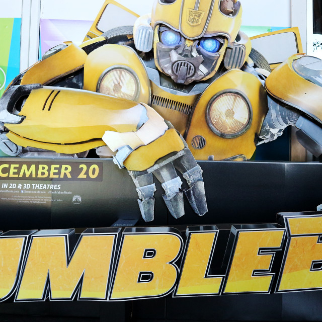 """Transformers character cardboard silhouette Bumblebee"" stock image"