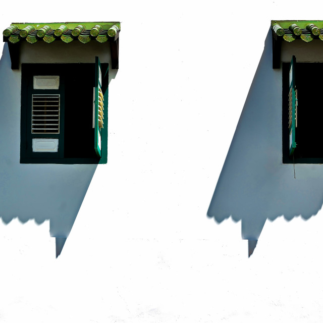 """Twin Shutters and Shadows"" stock image"