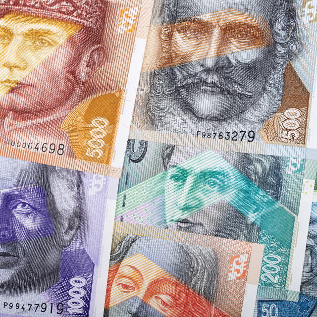"""Slovak koruna, a business background"" stock image"
