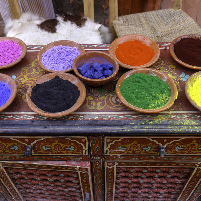 """Colourful dyes"" stock image"